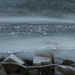 Stoję nad wodą - zima